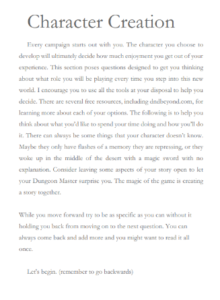 Character Development pages to help you craft your story